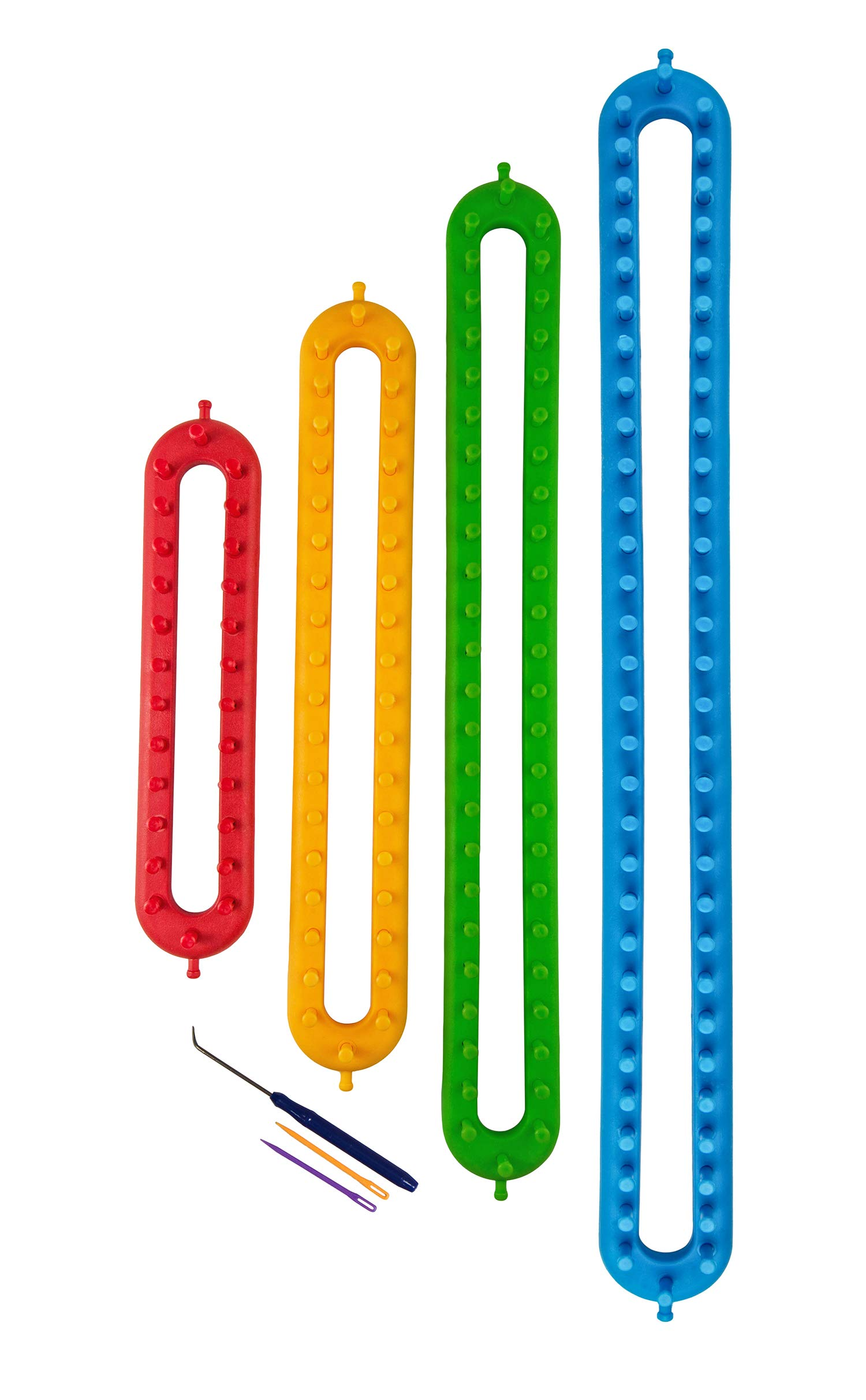 Long and Round Knitting Loom Set Craft Kit with Hook Needle,Gift Pompom Maker by Frola (Image #3)