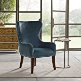 Madison Park Hancock Button Tufted Back Accent Chair - Blue