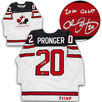 Chris Pronger Signed Jersey - Team Canada White Nike Olympic - Autographed  NHL Jerseys 449d6acd2