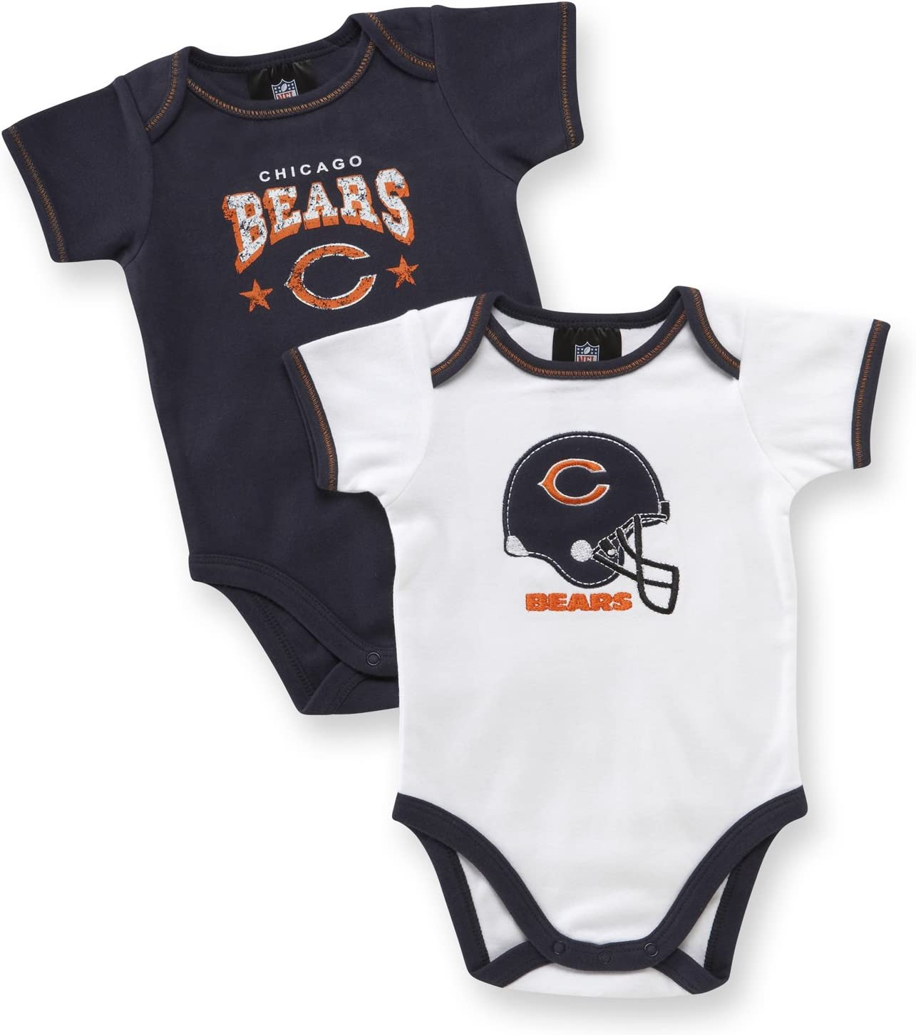 3-6 Months Chicago Bears Two Pack Bodysuit