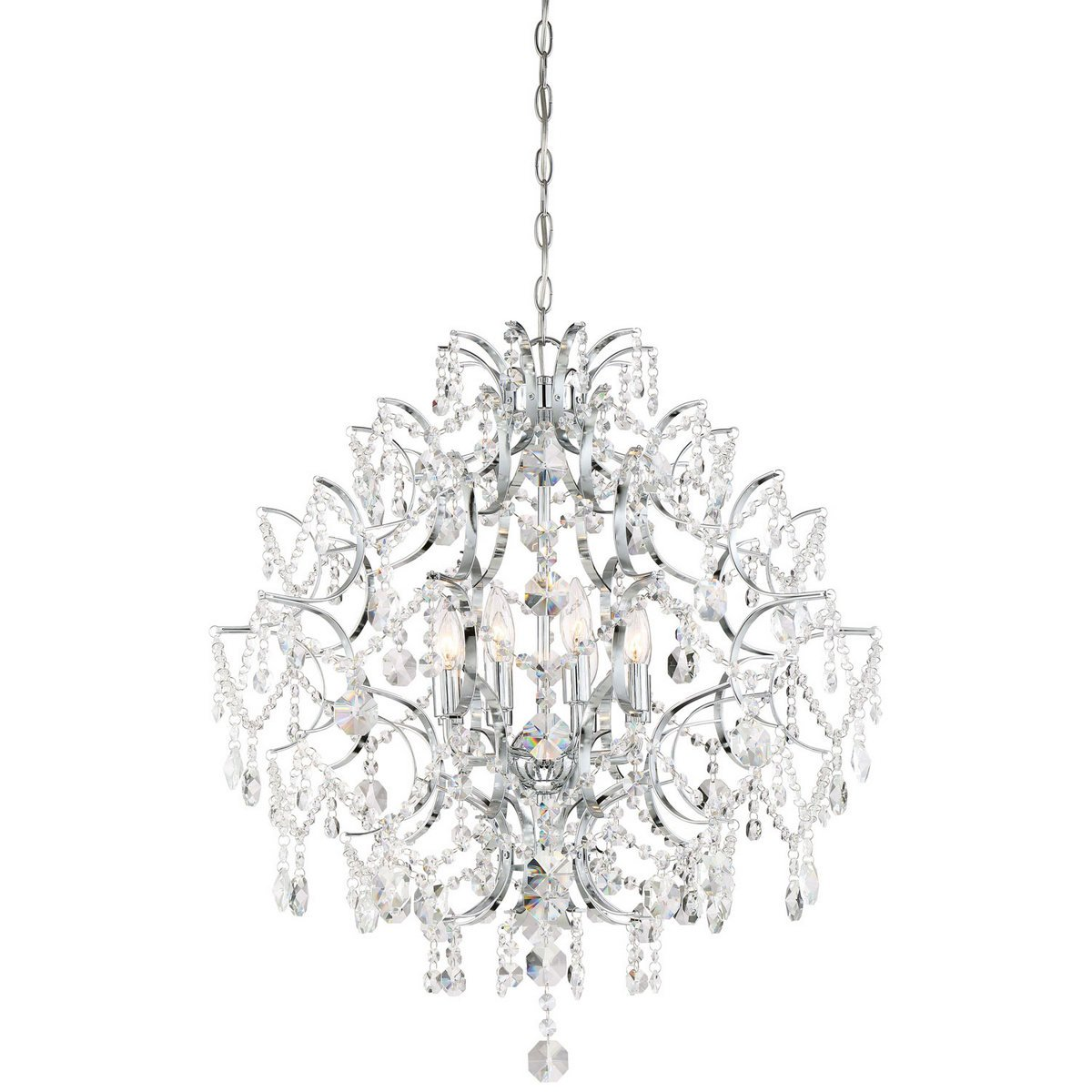 Minka Lavery 3158-77 Minka 3158-77Eight Light Chandelier from Isabella`S Crown Collection S Collectioneight