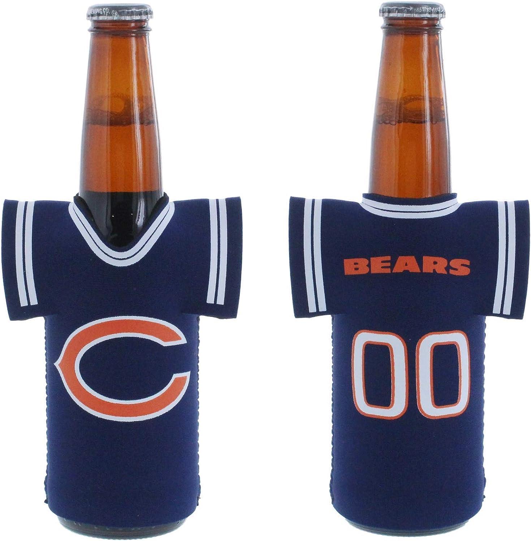 NFL Football Team Color Logo Jersey Beer Bottle Cooler Holder Neoprene Sleeve 2-Pack