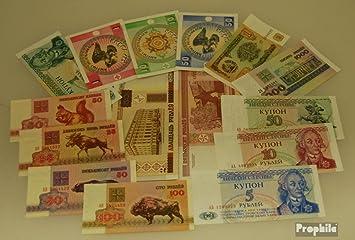 Prophila Collection ex Unión Soviética 15 Diferentes Billetes Guss-Estados (Billetes para los coleccionistas): Amazon.es: Juguetes y juegos