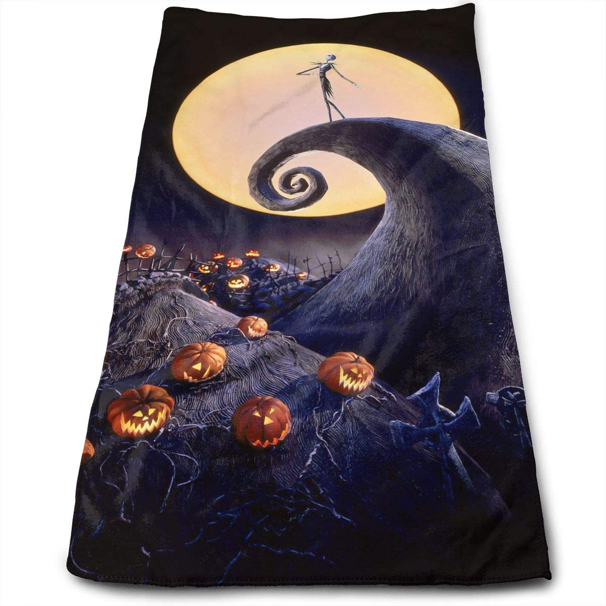 AZOULA The Nightmare Before Christmas Face Hand Towels Microfiber Sport Towels for Sports, Hair Care, Cosmetology, Cleaning, Furniture Makeup Removing Cloths Fast Drying 27.5 X 12 Inch.
