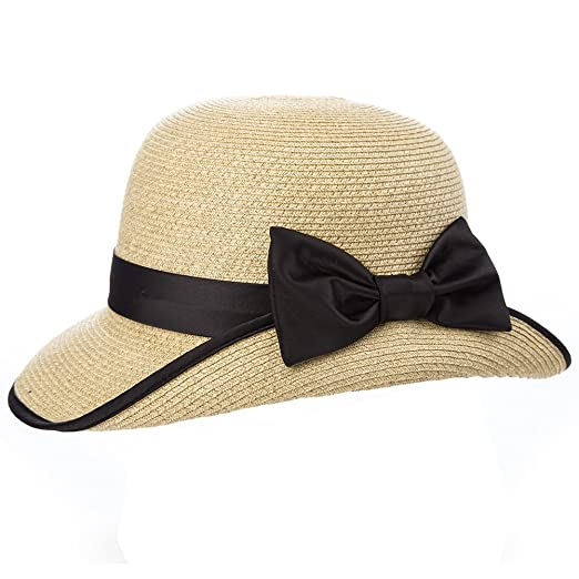 1920s Style Hats Packable UPF Straw Sunhat Women Summer Beach Travel Hat Ventilated w/Chin Strap $22.98 AT vintagedancer.com