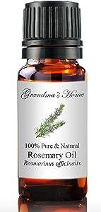 Grandma's Home Essential Oils - 100% Pure Therapeutic Grade (Rosemary, 10 mL)