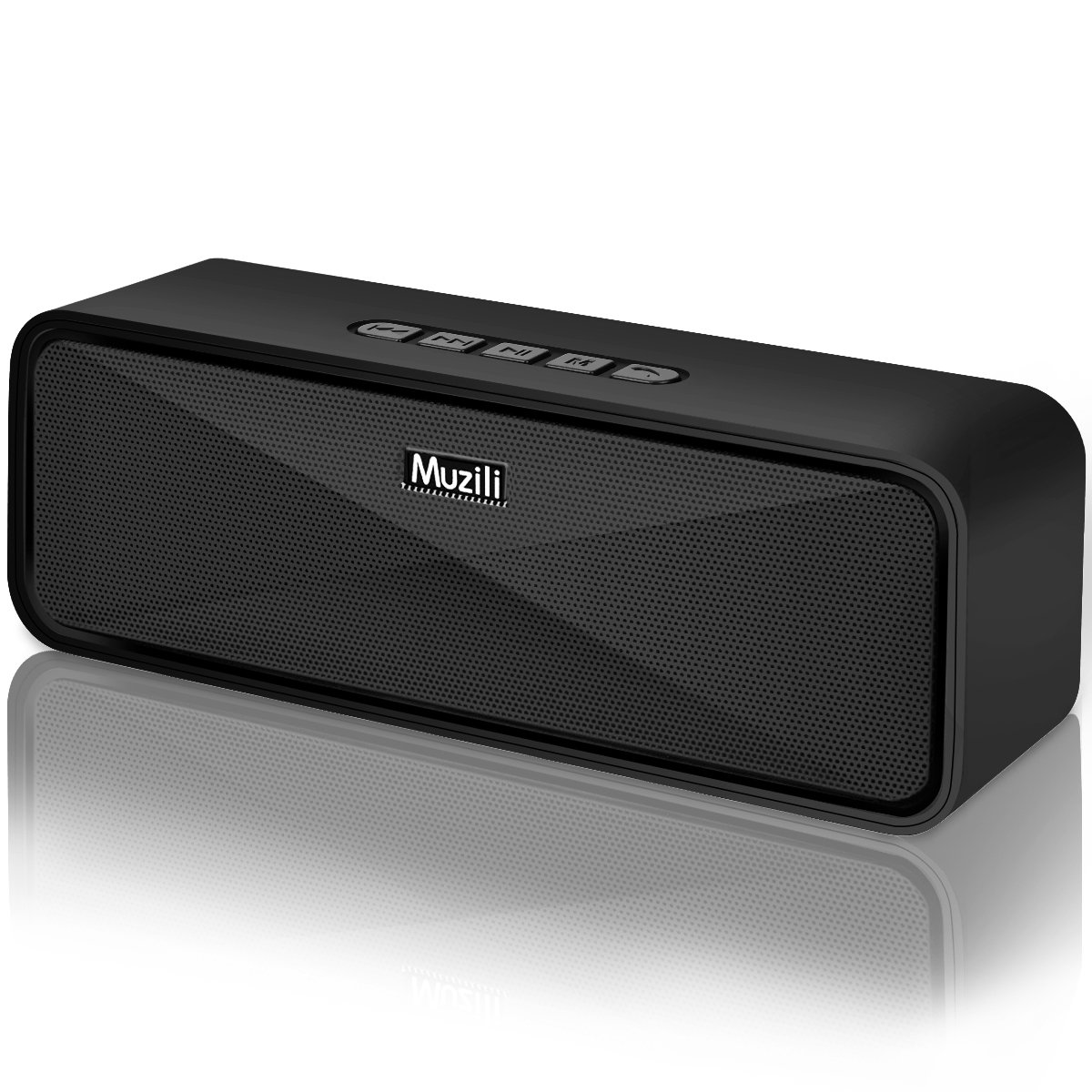 Altavoz Bluetooth Muzili Altavoz de inalámbrico Portátil al Aire Libre Sonido de bajo Sonido Estéreo Manos Libres/Modo AUX/Tarjeta TF/USB