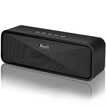 Altavoz Bluetooth Portátil, Altavoces Bluetooth Inalámbrico Estéreo Sonido de Bajo Bluetooth 5.0 Manos Libres/Modo AUX/Tarjeta TF/USB para Samsung ...