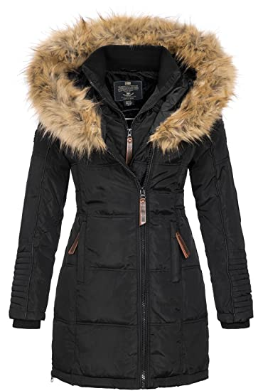 Geographical Norway Damen Jacke Winterparka Belissima XL Fellkapuze