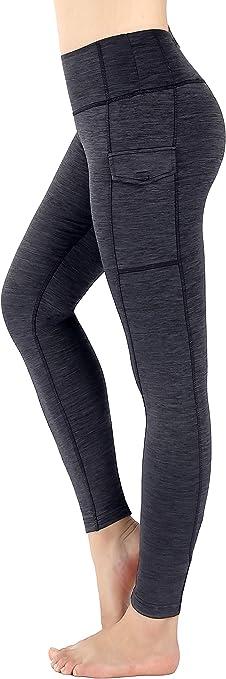 Munvot Leggings Sport Femme avec Poche Pantalon Coton