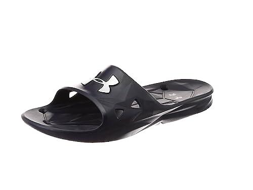 70ebb9f382d277 Under Armour Men s s Ua M Locker Iii Sl Beach   Pool Shoes Black ...