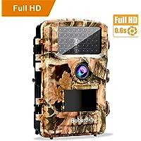 Baberdicy Wildkamera Fotofalle, 1080P Full HD Nachtsicht Wildkamera mit Bewegungsmelder 120 ° Weiter Winkel Infrarot 20m Jagdkamera, 42 Pcs Schwarzlicht, 2.4 '' LCD Display