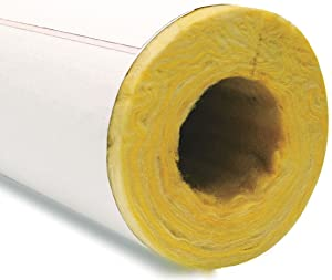 "2-13/32"" x 3 ft. Fiberglass Pipe Insulation, 1"" Wall"