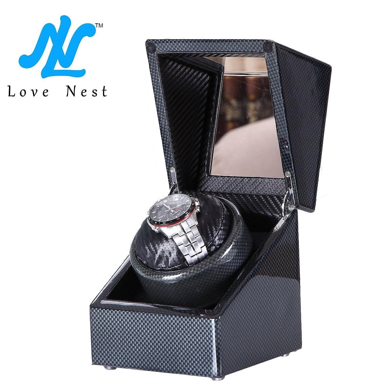 [Carbon New Style] Love Nest Single Premium Carbon Uhrenbeweger Piano Finish pure mit hochwertige japanische Mabuchi