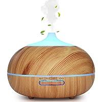 WD & CD Aromaverstuiver, 300 ml, luchtbevochtiger, ultrasone vernevelaar, geurlamp met oliën, diffuser met 7 ledkleuren…
