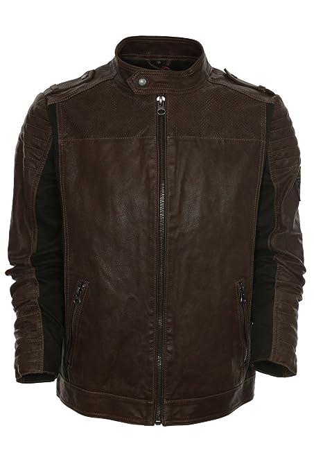 Tom Tailor Lederjacke Bikerjacke Herren Leder Jacke,  Farbe braun Herrengrößen XXL  Amazon.de  Bekleidung 271397f463