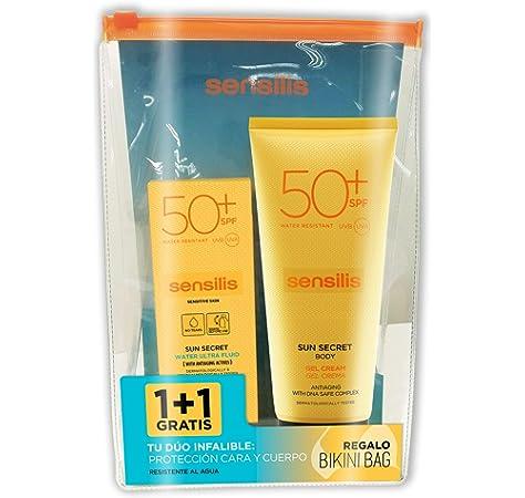 Sensilis Sun Secret - Pack Crema Solar Facial + Corporal - SPF 50+, 40ml + 200 ml: Amazon.es: Belleza