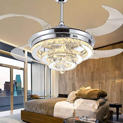 Amazon.com: Lámpara de ventilador de techo con luz LED de ...