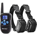 Petrainer PET998DRB2 Dog Training Collar Rechargeable Rainproof 330 yd Remote Dog Shock Collar Beep, Vibra Shock Electronic Collar