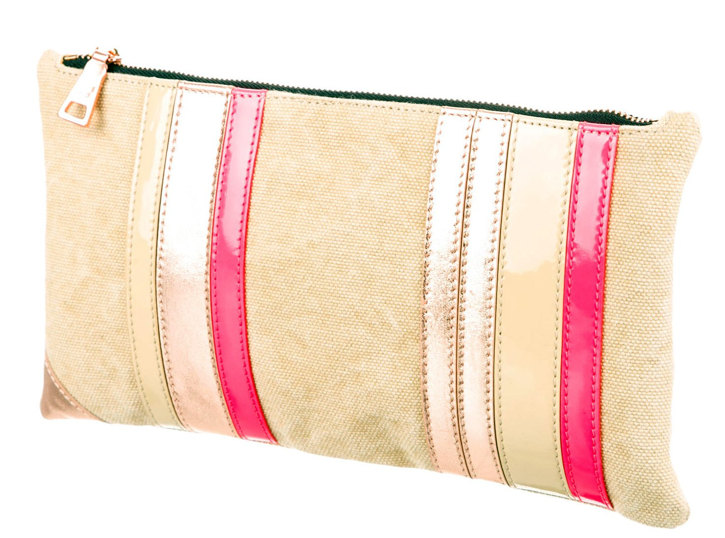 Ruthie Davis 'Made with Love in Italy Simple Clutch' Rose Gold + Patent Pink