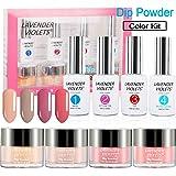 Acrylic Dip Powder Nails Color Kit Dipping Manicure 4 Color Set No UV/LED Nail Lamp Needed J765