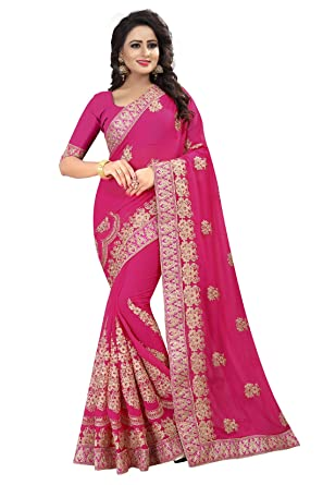 Amazon Odhni Indian Designer Pink Coding Embroidery And Heavy