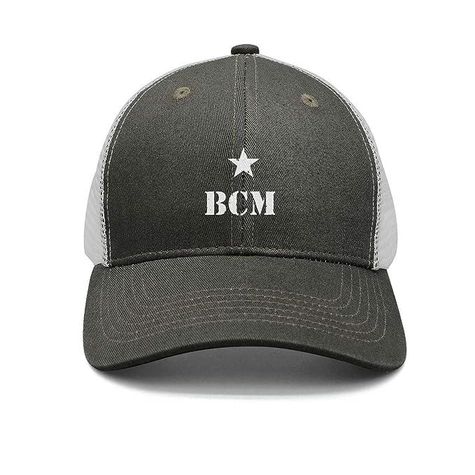 Amazon.com: BCM-Logo- Gorra de béisbol algodón Flexfit ...