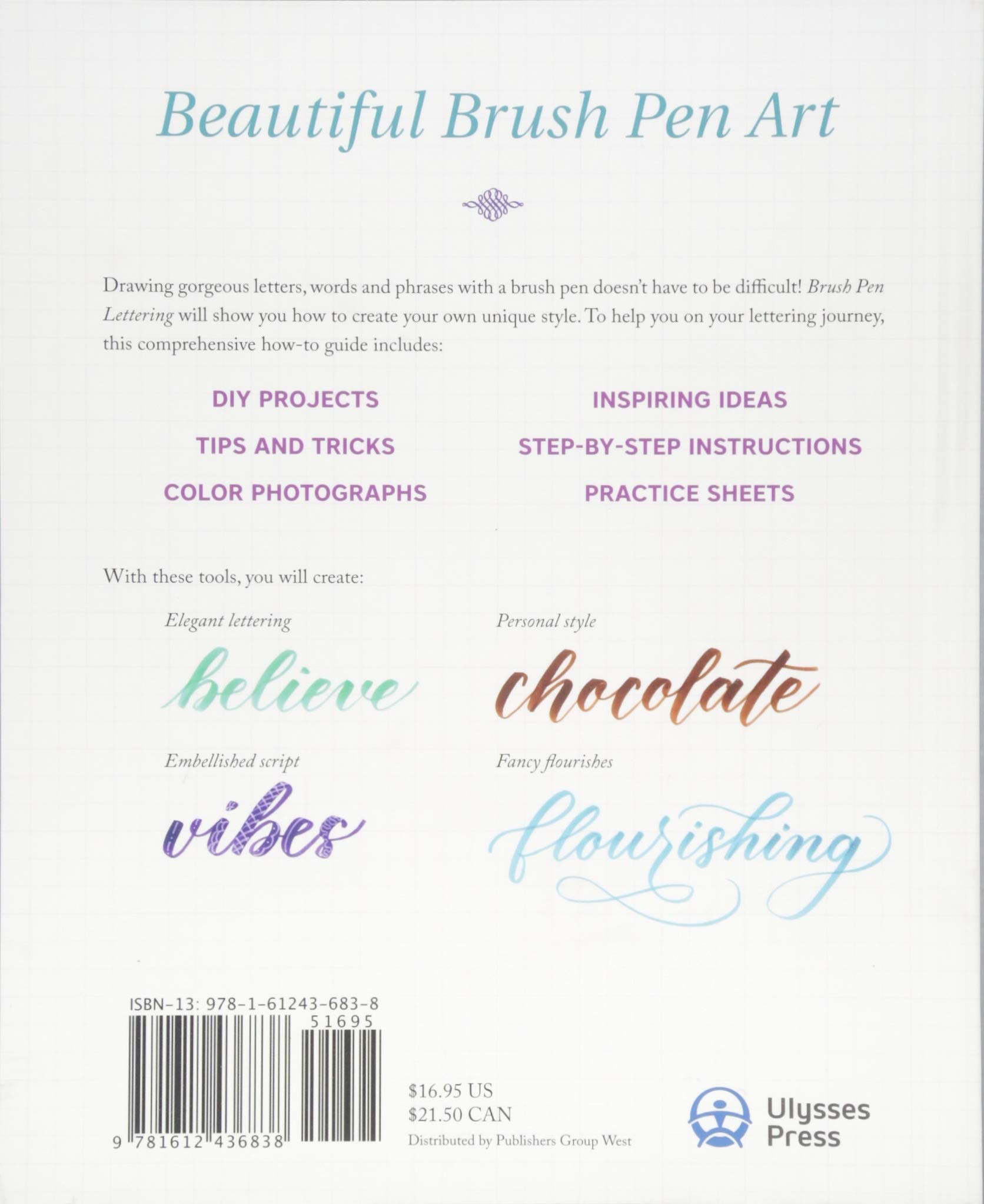 Brush Pen Lettering: A Step-by-Step Workbook for Learning Decorative  Scripts and