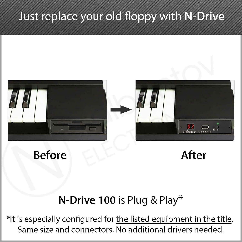 Nalbantov N-Drive 100 un emulador de disquetera USB para Kawai Q80 and Kawai Q80EX