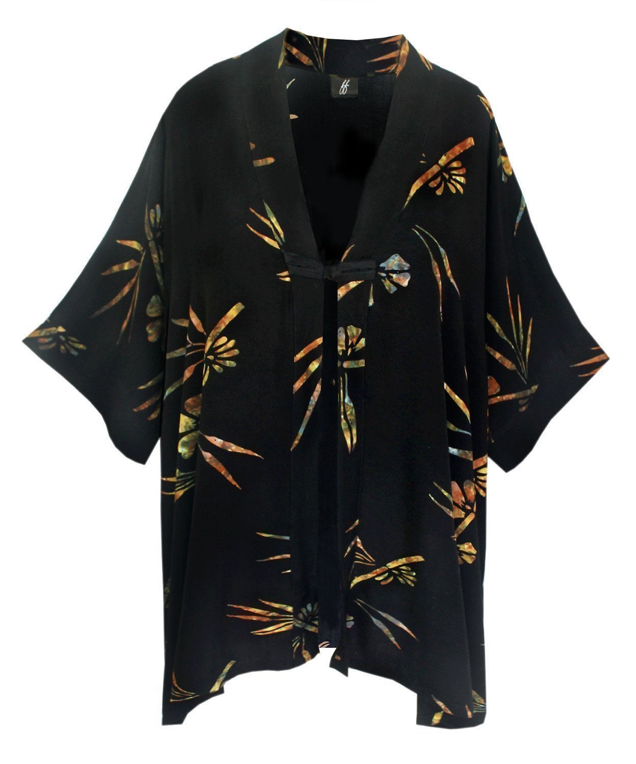 Kimono PLUS SIZE Caftan Cardigan, Plus Sizes XL-2X and 2X-4X, Oriental Inspired Jacket with Chinese Button Knot, Hand Batik Fabric, Art Wear PLUS SIZE Clothing for Full Figures, CUSTOM ORDER