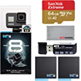 GoPro Hero8 Black Action Camera with Accessory Bundle - Sandisk 64gb U3 Memory Card, 2 X GoPro USA Batteries and…