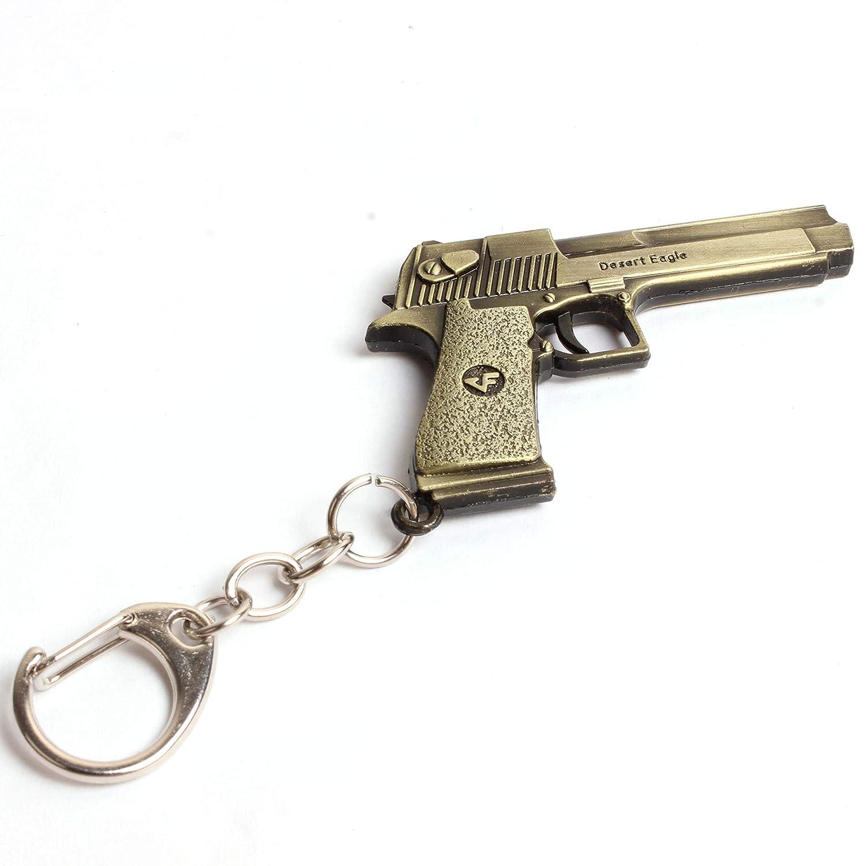 PUBG Desert Eagle  45 ACP Gun Keychain in Gold Color PUBG