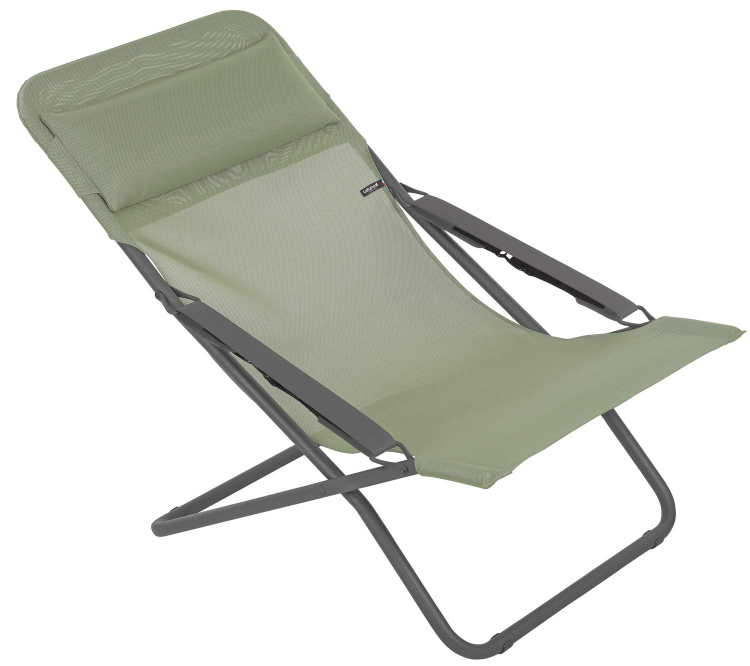 Lafuma LFM28638557 Patio and Poolside-Foldable Transats and sunbeds, Moss by Lafuma