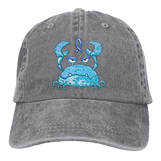 701616f7752 glabery Blue Crab Cartoon Women Fashion Denim Cotton Adjustable Dad Hats  Baseball Caps at Amazon Men s Clothing store