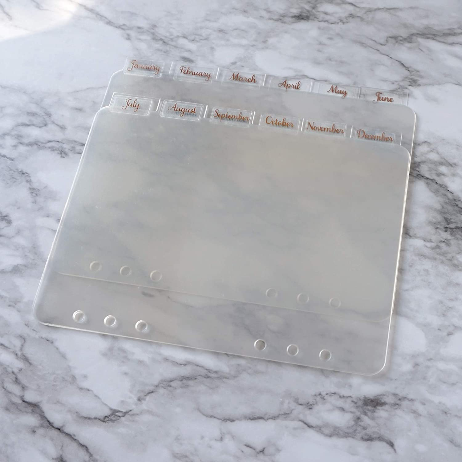Clear Plastic Planner Dividers Gold Planner Accessories Planner Tab Dividers