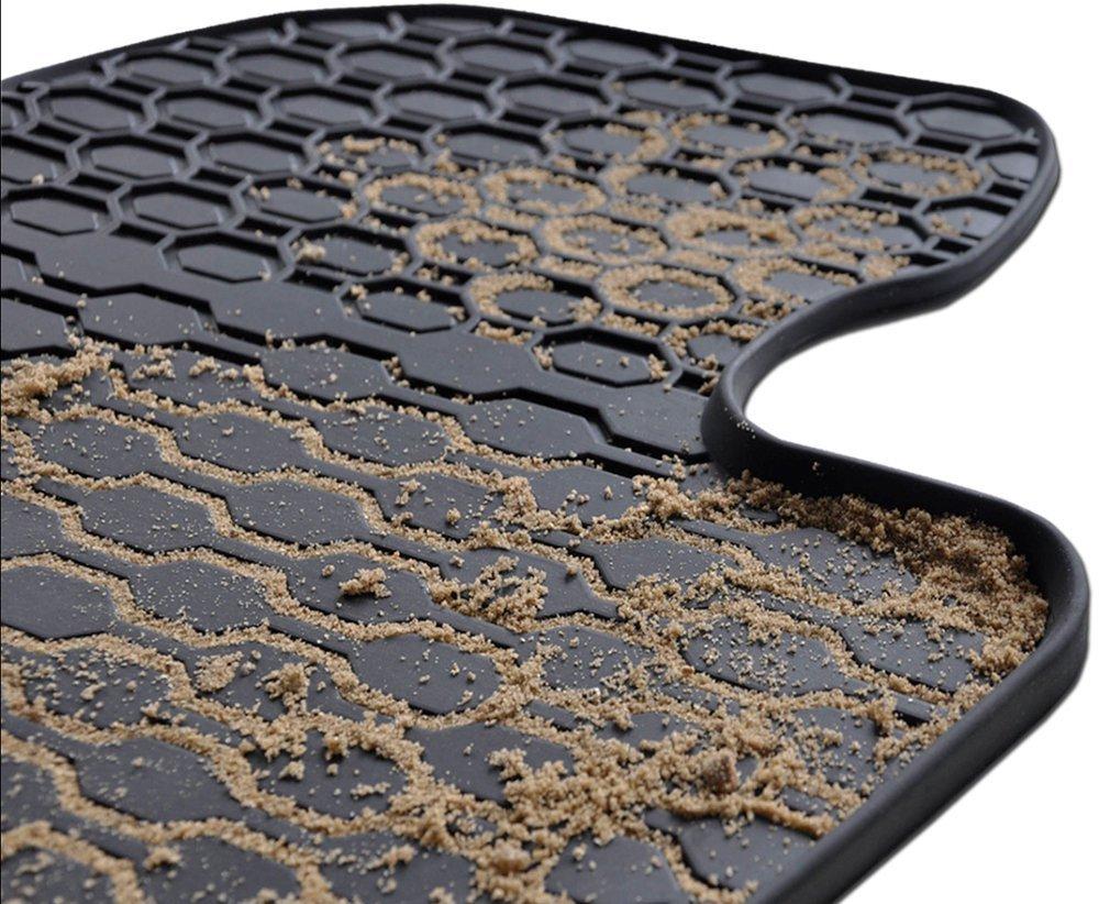 Ajustement Parfait Set DE 2 Tapis de Pieds 5902538448604 Noire Mossa Tapis de Sol Caoutchouc