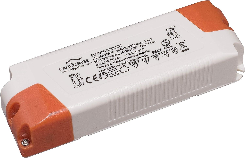 6-50 W Bloc dalimentation 300-1400 mA Eaglerise Triac Driver Transformateur LED dimmable blanc
