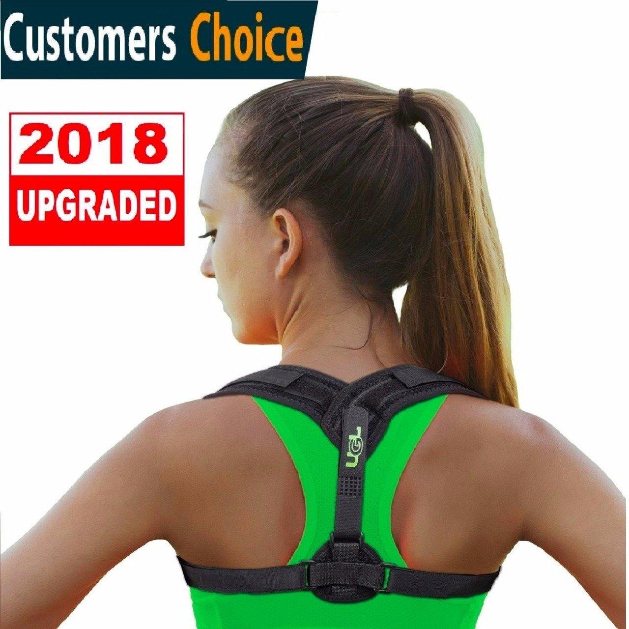 Back Brace Posture Corrector - Upper Back Posture Corrector for Women Men - Best Clavicle Support Sports Shoulder Straightener - Adjustable Comfortable Effective for Slouching Hunching Back Alignment