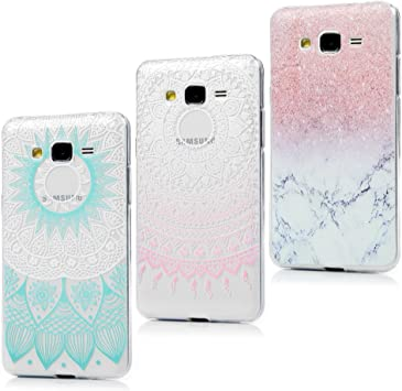 Badalink 3 x Coque Samsung Galaxy Grand Prime G530 G5308W G530H G530FZ G5309W G5306W, Housse Bumper Coque de Protection TPU Silicone Gel Souple ...