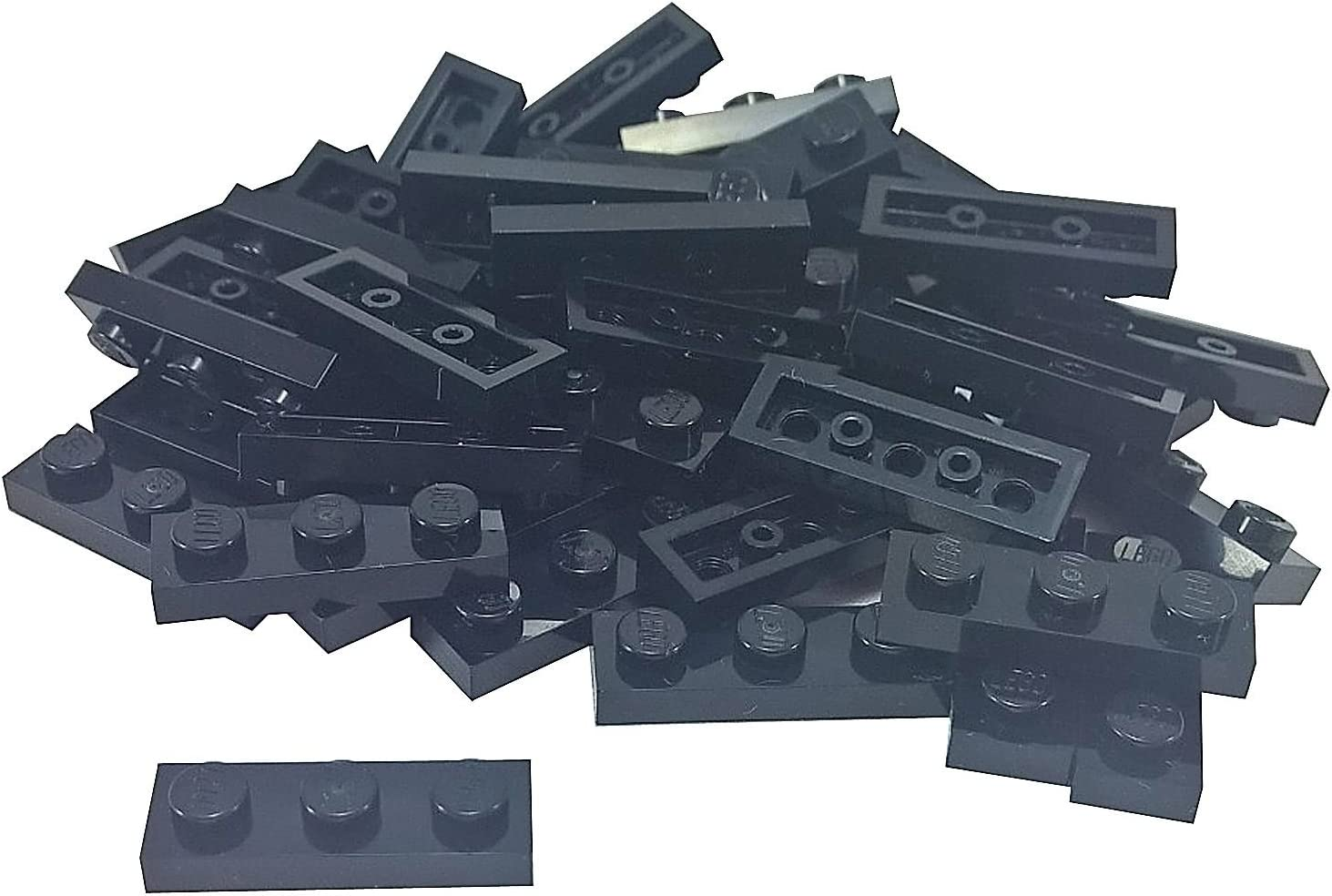 LEGO Parts and Pieces: Black 1x3 Plate x50