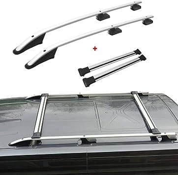 Omac Dachreling Dachträger Set Für Transit Tourneo Custom Ab 2013 Mit TÜv Abe Silber Auto