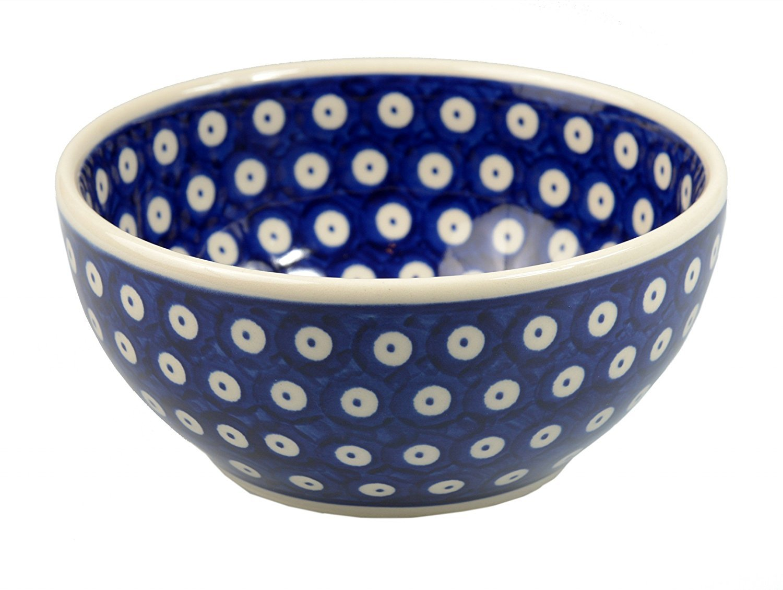 Classic Boleslawiec Pottery Hand Painted Ceramic Bowl 0.85L (16) 072-T-001 BCV Boleslawiec Pottery 072-T-001-Q1