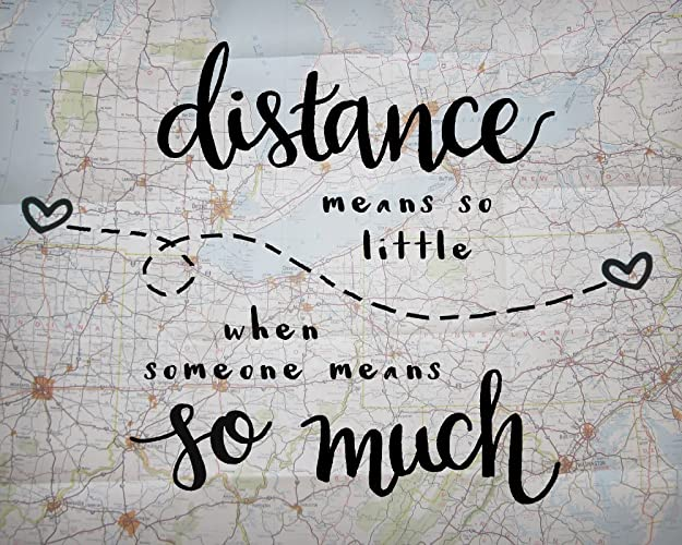 Long Distance Love Quotes Classy Amazon 48x48 Inch Print Distance Means So Little Love Quote
