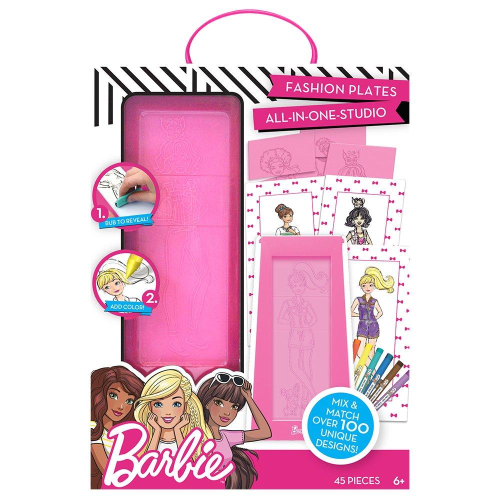 Amazon.com: Barbie by Horizon Group USA Fashion Plate Kit, Color ...