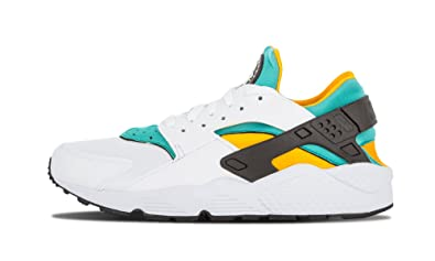 cheaper 3e171 e3518 Nike Air Huarache White Sport Turquoise University Gold Sz 8 318429 137