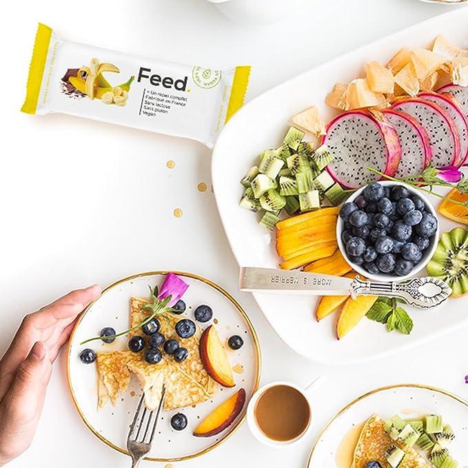 Pack de 12 Barritas Chocolate - Comida Completa - 100% Vegana - Sin Lactosa - Sin Gluten - Sin OGM - 100g (Chocolate): Amazon.es: Salud y cuidado personal
