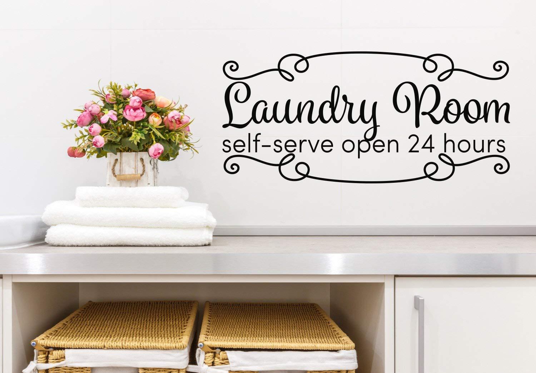 **Self Serve Laundry  Vinyl Decal Sticker Wall Decor **