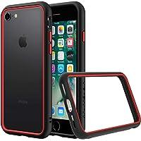RhinoShield Coque pour iPhone 7 / iPhone 8 [CrashGuard NX] Protection Fine Personnalisable - Absorption des Chocs [sans BPA] + [Programme de Remplacement Gratuit] - Combo Noir/Rouge