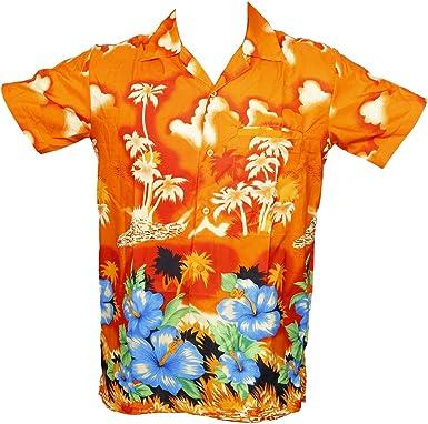 KIKLO Camisa de verano para niños y niñas, unisex, para niños, hawaiana, playa, Aloha, fiesta, verano, vacaciones, palma