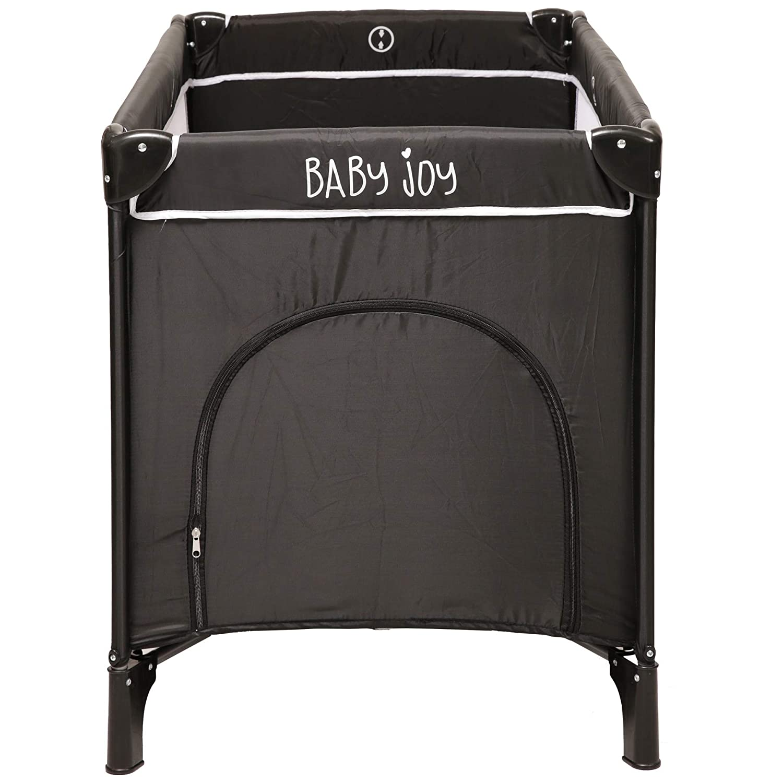 Baby Joy Port/átil plegable Ni/ño Beb/é Cuna de viaje grande Cuna Cama Parque infantil Gris